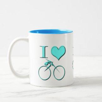 I Love Bicycle Two-Tone Coffee Mug