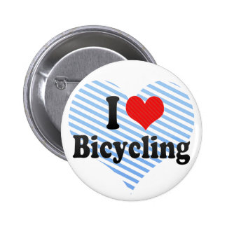 I Love Bicycling Pinback Buttons