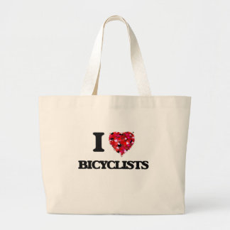 I Love Bicyclists Jumbo Tote Bag