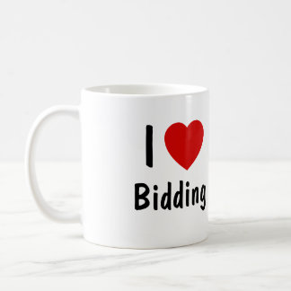 I Love Bidding Coffee Mug