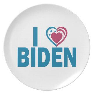 I Love Biden Dinner Plate