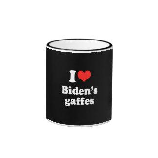 I LOVE BIDEN'S GAFFES.png Ringer Coffee Mug