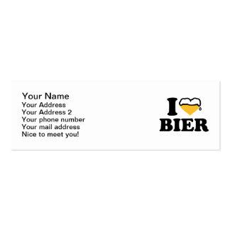 I love Bier heart Mini Business Card
