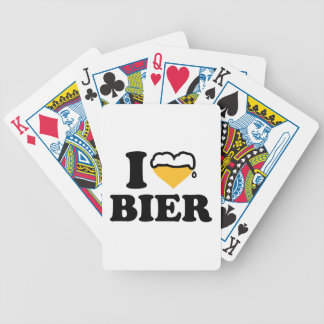 I love Bier heart Playing Cards