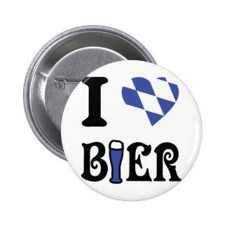 I love bier icon pinback button