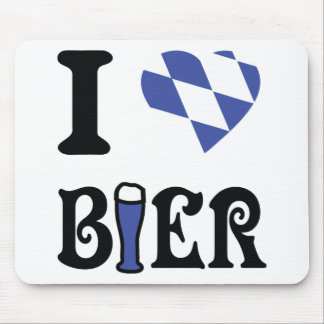 I love bier icon mouse pad