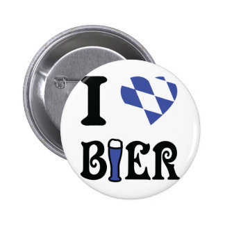 I love bier icon pinback button