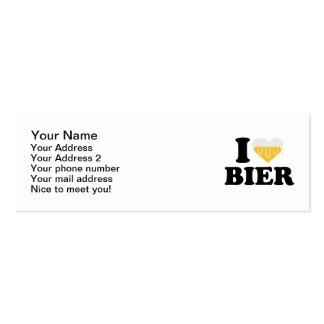 I love Bier Mini Business Card