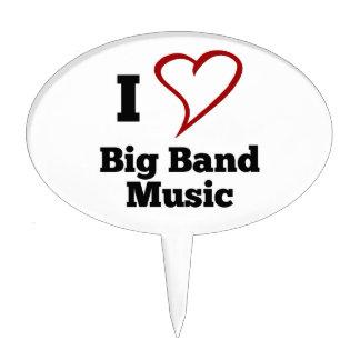 I Love Big Band Music Cake Picks