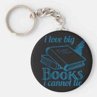 I love big book cannot lie blue Chalkboard Keychains