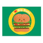 I Love Big Buns, Kawaii Big Burger Post Cards
