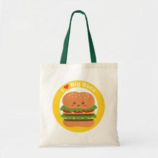 I Love Big Buns Kawaii Big Burger Pun Tote