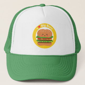 I Love Big Buns, Kawaii Big Burger Trucker Hat