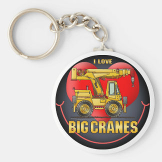 I Love Big Cranes Key Chain