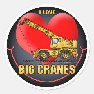 I Love Big Cranes Kids Sticker