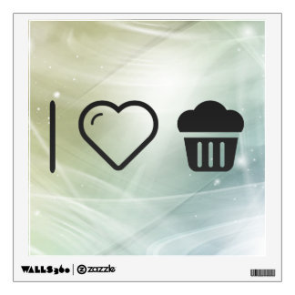 I Love Big Cupcakes Room Graphic