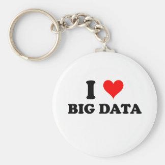 I Love Big Data Basic Round Button Keychain