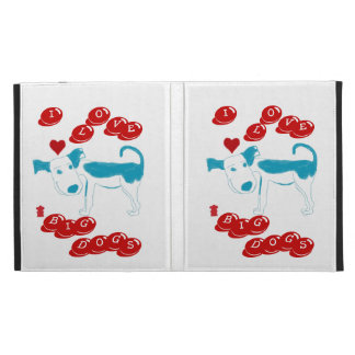 I LOVE BIG DOGS Caseable iPad Case