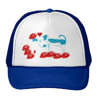 I LOVE BIG DOGS Hat