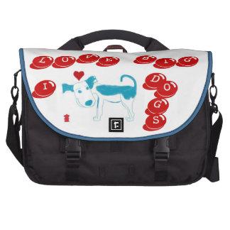 I LOVE BIG DOGS Laptop Bag
