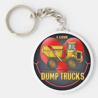 I Love Big Dump Trucks Key Chain