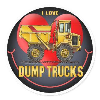 I Love Big Dump Trucks Kids Sticker