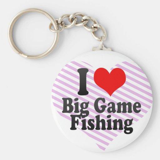I love Big Game Fishing Keychain