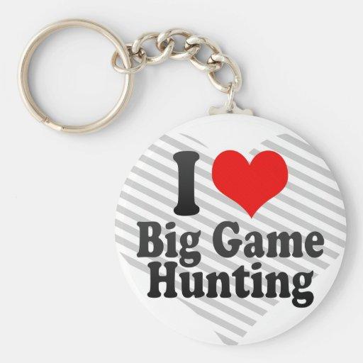 I love Big Game Hunting Key Chain