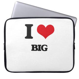 I Love Big Computer Sleeves