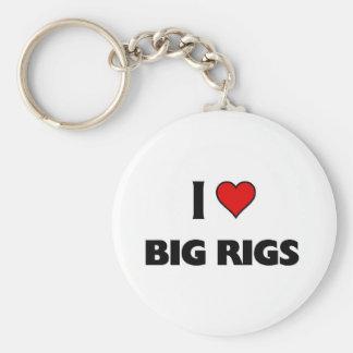 I love Big Rigs Key Chain