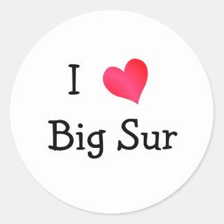 I Love Big Sur Classic Round Sticker