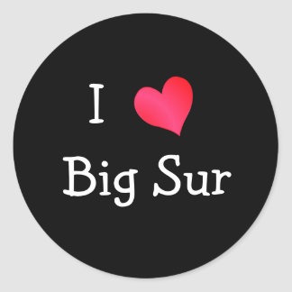 I Love Big Sur Round Stickers