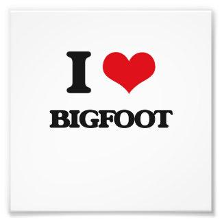 I love Bigfoot Photo Print