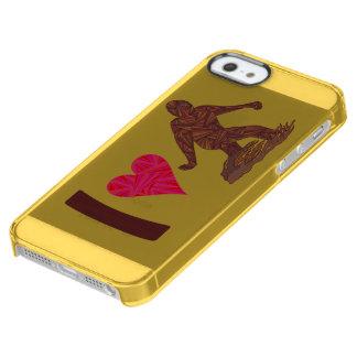 I Love Bigfoot Walking Sasquatch iphoneSE Yellow Clear iPhone SE/5/5s Case