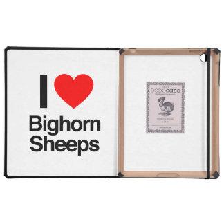 i love bighorn sheeps iPad folio case