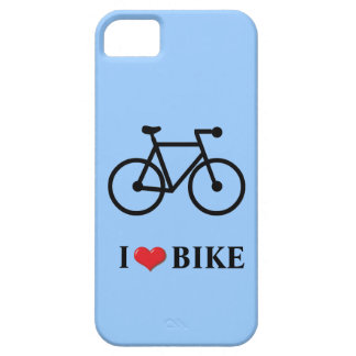 I Love Bike blue background Case