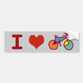I love bike bumper sticker
