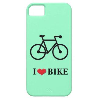 I Love Bike light green background Case
