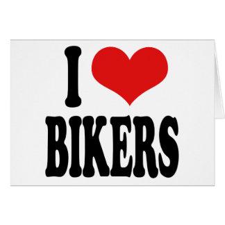 I Love Bikers Card