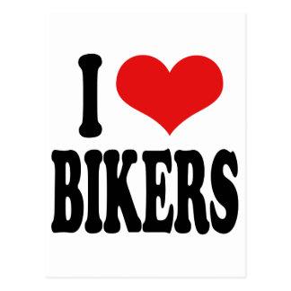 I Love Bikers Postcard