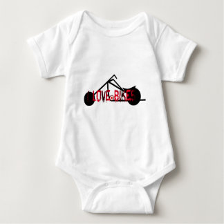 i love bikes and motorcicles picture image baby bodysuit