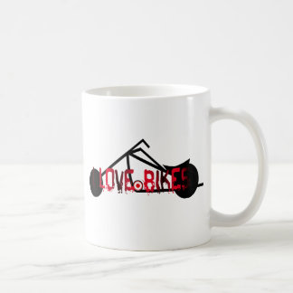 i love bikes and motorcicles picture image coffee mug