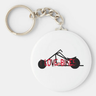 i love bikes and motorcicles picture image key chains