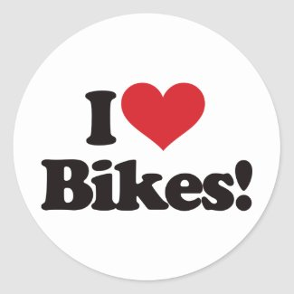 I Love Bikes! Sticker