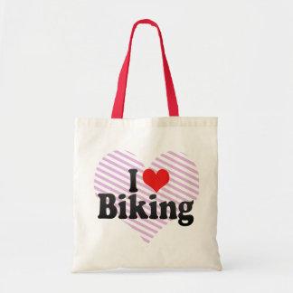I Love Biking Canvas Bag