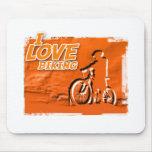 I Love Biking Bars Mouse Pads