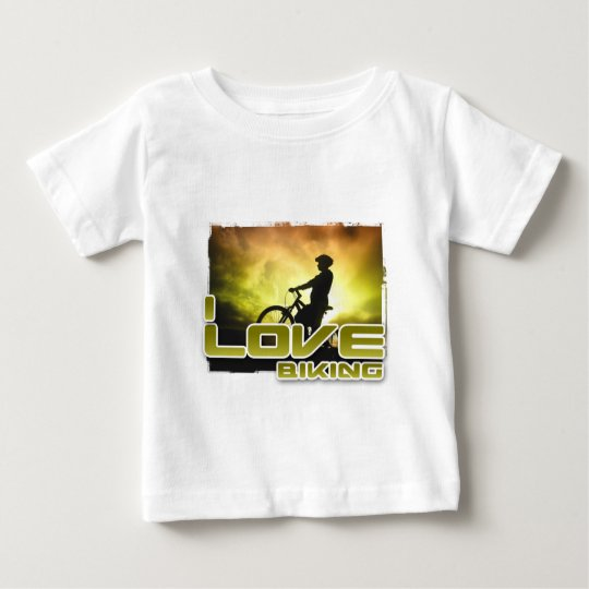 I Love Biking Braking Baby T-Shirt