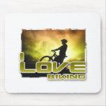 I Love Biking Braking Mousepads