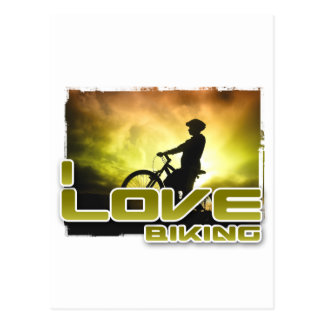 I Love Biking Braking Postcard
