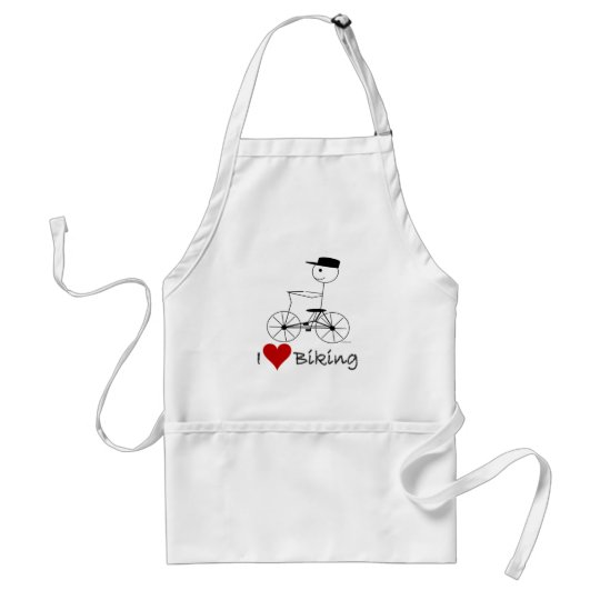 I Love Biking Gifts and Apparel Adult Apron